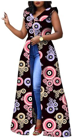 RealWax Dress For Women Party Wear Split Ball Gown Cocktail Ankara Clothing Clothes African Dresses For Kids, Latest African Fashion Dresses, African Dresses For Women, African Attire, African Print Dress Designs, Ankara Clothing, Cocktail, Ball Gown, Party Wear