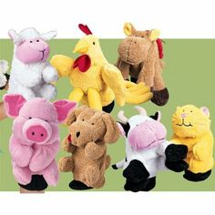 Amazon.com: Farm Animal Glove Puppets
