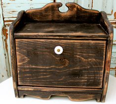 Bread Box  Shabby Kitchen  Cottage Chic  Your by honeystreasures, $120.00