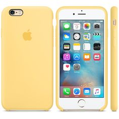 iPhone 6s Silicone Case - yellow - Apple (UK)