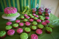 Matching cupcakes for our turtle cake Turtle Birthday, Cupcakes, Desserts, Food, Meal, Cupcake, Deserts, Essen, Hoods