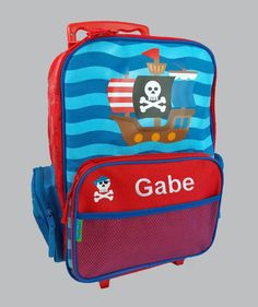 Personalized Stephen Joseph Rolling Luggage PIRATE Themed for Children by DeerpathDesigns on Etsy