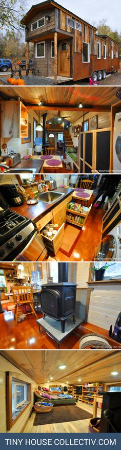 The Red Mountain: a 34' tiny home with two bedrooms