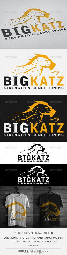 BigKatz- Gym and Crossfit  Logo Design Template Vector #logotype Download it here: http://graphicriver.net/item/bigkatz-gym-and-crossfit-logo/6372727?s_rank=279?ref=nexion