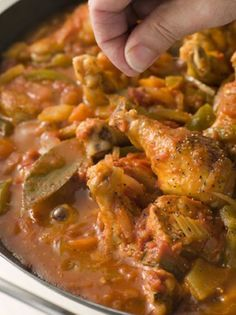 Crock Pot Chicken Creole   Chicken Louisiana creole flavor is perfect with a bay leaf that gives a unique flavor in this recipe. Chicken Cuts enjoy a red creole sauce with carrots, peppers, and onions.  Pinch of ground black pepper before serving is the finishing touch to this amazing food.