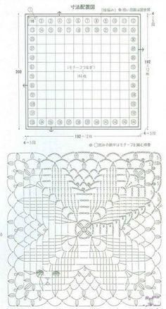 Подборка вязаных пледов со схемами