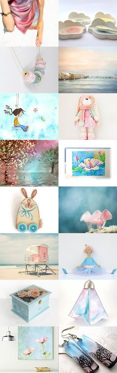Uplifting Pastels by Linda Karen on Etsy--Pinned+with+TreasuryPin.com