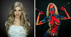 Woman Paints Stunning Superhero Costumes On Her Naked Body | Bored Panda
