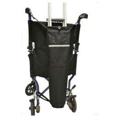 "Wheelchair Crutch Carrier(Chairs=with push handles)  Crutch holder for manual #wheelchairs with push handles. Fits forearm and underarm style crutches. Fits behind manual wheelchair push-handles for travel with no interferences. Features: Approx. Size: 5 circumference x 26"" depth Fits forearm and underarm style crutches securely with hook and loop strap. Made from high quality, water resistant polyester."
