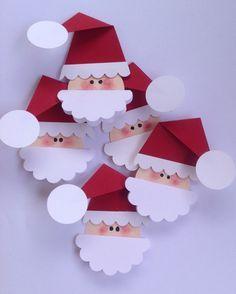 Santa Claus gift tags Santa gift tags Santa tags Crafts for kids Santa Crafts, Xmas Crafts, Paper Crafts, Diy Crafts, Christmas Crafts For Kids To Make, Kids Christmas, Etsy Christmas, Christmas Gift Tags, Christmas Ornaments