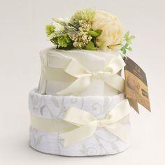 diaper cake | www.pannolini.jp #baby shower #おむつケーキ(ダイパーケーキ)