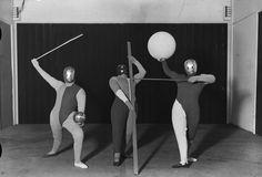 A Bauhaus play, produced by Oskar Schlemmer, 1927Photograph by Erich Consemüller © Stiftung Bauhaus Dessau