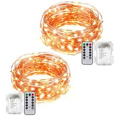 2 Pack 100 LEDs Battery Operated LED Copper Wire String Fairy Lights Party Christmas Wedding Light With Remote Control 8 Flash Modes Warm White Battery Not Included ** See this great product. (This is an affiliate link) Over Sink Lighting, Copper Wire Fairy Lights, Fairy Lights Wedding, Battery Operated, Christmas Wedding, Christmas Lights, Remote, Warm, Led