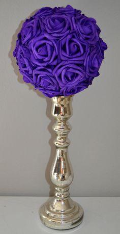 Luxury Elegant Wedding PURPLE hanging foam flower by KimeeKouture, $25.00
