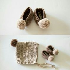 Baby cap + ballerinas by Cosmen&Co
