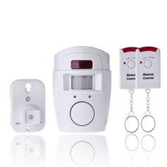 PIR MP Alert Infrared Sensor Anti-theft Motion Detector Alarm Monitor Wireless Alarm system+2 remote controller
