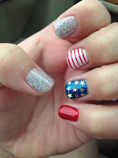 Fourth of July no chip nail design!
