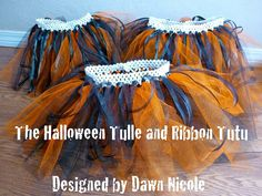 Tulle and ribbon skirts