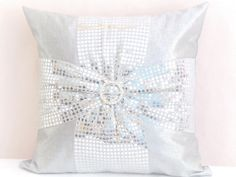White and silver  by Grazyna Zielant on Etsy
