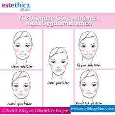 Güzel bir görünüm için yüz tipinize uygun makyaj yapmanız gerekir. İşte yüz tipinize göre allık sürme teknikleri !