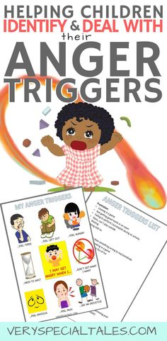 Why is important to teach kids about anger triggers?When you are able to identify your kid's anger triggers you may be able to: a) avoid some anger-triggering situation, or b) help your kids take action by utilizing their coping strategies Parenting Books, Gentle Parenting, Parenting Tips, Autism Parenting, Peaceful Parenting, Coping Skills List, Anger Management For Kids, Behavior Management, Dealing With Anger