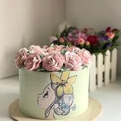 Gorgeous Cakes, Pretty Cakes, Cupcakes, Cupcake Cakes, Hand Painted Cakes, Cool Wedding Cakes, Girl Cakes, Cake Decorating, Decorating Ideas