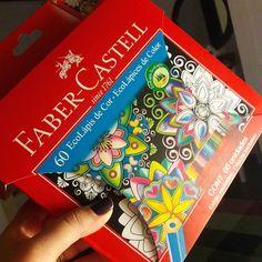 Quando cheguei em casa tinha essa caixa de lápis de cor #fabercastellbr tão maravilhosa que amanhã vou tirar a poeira da categoria materiais e mostrá-la em detalhes!  #60cores #estojopersonalizavel Cola amou! #colaindica