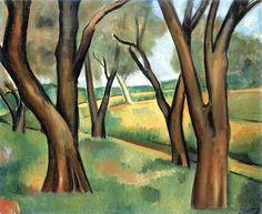 Trees at Cagnes Andre Derain - 1910 André Derain, Henri Matisse, Paul Cezanne, Kandinsky, Klimt, Vincent Van Gogh, Landscape Art, Landscape Paintings, Modern Paintings