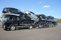 9 cars on truck