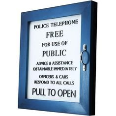 Doctor Who TARDIS Door: Re-create with a picture frame, handle and glass paint? It wouldn't look quite as good though...
