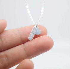 Tiny slice necklace   sterling silver mini bar  by AiryLoft, $23.00