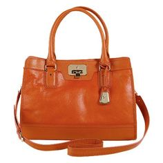 Cole Haan Vintage Valise Kendra E/W Tote.  Pretty orange!  Appropriately huge for totin' stuff.