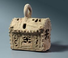 A ceramic lantern fashioned in the shape of a miniature church found an a Byzantine archaeological site in Israel