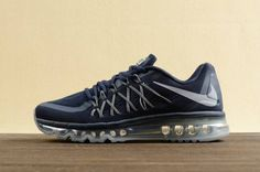 best service d40d5 ab20e Nike Mens Air Max 2015 Running Sneakers - Obsidian Black-Wolf Grey On Sale