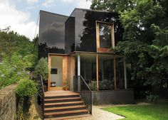 Tree House or as we called it The Black Glass house in Sydenham (East London) is work of Ian McChesney architecture practice, the project was completed this year. House Of Mirrors, Wooden Facade, Mad About The House, London Property, Residential Architect, Glass Facades, London House, Glass House, Black Glass