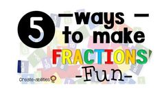 Make fractions fun for your 1st, 2nd, 3rd, and 4th grade classroom or home school students. They will enjoy the ideas and FREE resources included at this blog post to help them become more proficient at learning their fraction math skills! Use food as one the most fun ways to incorporate some fun into your daily lesson. An interactive number line is another hands on activity your kids will love doing. {first, second, third, fourth graders} #Fractions #Math Math For 6th Graders, 3rd Grade Fractions, Teaching Fractions, 4th Grade Classroom, Math Fractions, 4th Grade Math, Classroom Ideas, Kindergarten Classroom, 1st Grade Activities