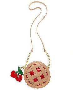 Betsey Johnson Cherry Pie Crossbody purse - this makes me think of supernatural. I may need it for wonder con :) - funky purses, handbags price, designer handbag sale *sponsored https://www.pinterest.com/purses_handbags/ https://www.pinterest.com/explore/handbags/ https://www.pinterest.com/purses_handbags/cheap-purses/ https://www.walmart.com/browse/clothing/handbags/5438_1045799_1045800