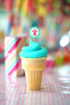 classic favorite for kiddos - cupcakes in cones