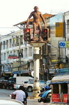Krabi, Thailand.  the world weirdest traffic lights.