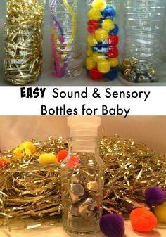 Easy sound and Sensory Bottles for baby- Infant Sensory Bottles