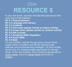 Cda competency goals and functional areas program management