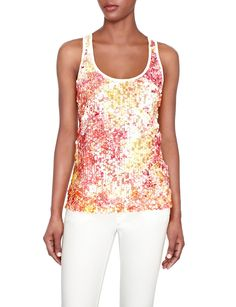 Hello Gorgeous! Sequined Paillette Tank | Women's Tops | THE LIMITED @Matty Chuah Limited