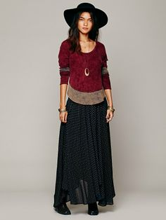 Free People Lovely Lady Polka Dot Maxi at Free People Clothing Boutique