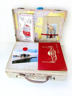 """Lydille: Projet """"Istanbul"""" PHOTOS ! Valise à souvenirs, minis & carnets scrapbook. Suitcase."""