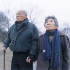 Kawauchi spend her early career photographing family members. Here is a simple shot of a serene elderly Japanese couple, probably related to her.