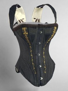 """Woman's Corset and Shoulder Braces,"" 1890s, probably made by the Williamson Corset and Brace Co., Saint Louis"
