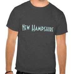 New Hampshire t-shirt, customizable.