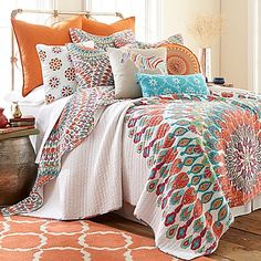 Levtex Home Marais Reversible King Quilt Set in Red