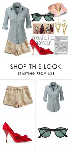 """""""we should chat"""" by soidi-illis ❤ liked on Polyvore featuring Lucky Brand, LE3NO, Miu Miu, Ray-Ban, women's clothing, women, female, woman, misses and juniors"""