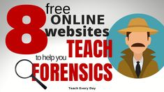 I am always on the look out for interesting, engaging (free) resources for my students. Here is a list of my favorites forensic teaching resources! Science Resources, Teacher Resources, Activities, Science Projects, Biology Teacher, Ap Biology, Student Reading, Student Work, Innocence Project